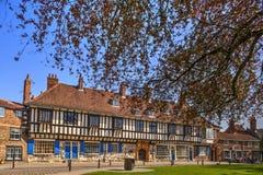 Edificio medieval en York Imagenes de archivo