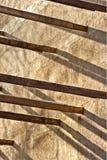 Edificio medio de las vigas de madera Foto de archivo libre de regalías