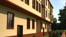 Edificio mencionado en el lado trasero de Turquía part2 ilustración del vector