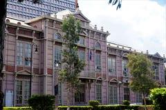 Edificio Metalico - an old school in the center of San Jose royalty free stock photography
