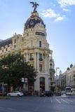 Edificio Metropolis in Madrid Stock Photos