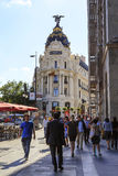 Edificio Metropolis in Madrid Stock Images