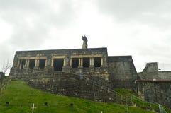 Edificio militar hermoso en la ciudad fortificada de Getaria Edades Medias de la arquitectura Imagenes de archivo
