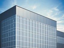 Edificio moderno del asunto representación 3d Imágenes de archivo libres de regalías