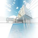 Edificio moderno del concepto stock de ilustración