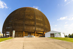 Edificio moderno en CERN, Ginebra. Fotografía de archivo