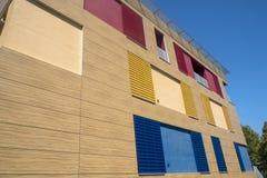 Edificio moderno en Ponsacco, Toscana imagen de archivo