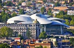 Edificio moderno, Tibilisi Georgia Imagenes de archivo