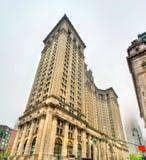 Edificio municipal de Manhattan en New York City, los E.E.U.U. imagen de archivo