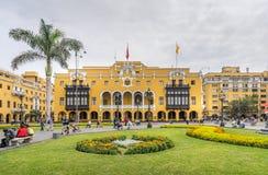 Edificio municipal en Lima Peru imagen de archivo libre de regalías