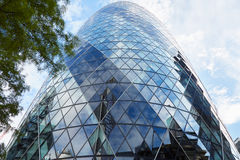 30 edificio o pepinillo del St Mary Axe en Londres Imagenes de archivo