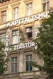 Edificio occupato Tuntenhaus di Berlino Fotografie Stock Libere da Diritti