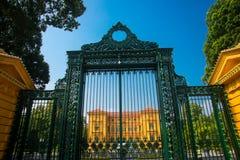 Edificio, oficina del presidente de Vietnam, ha central de Noi, por la construcción francesa del arquitecto Imagenes de archivo