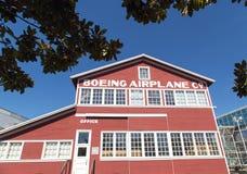 Edificio original del aeroplano de Boeing Foto de archivo