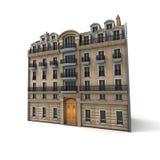Edificio parisiense Fotografía de archivo libre de regalías