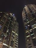 Edificio per uffici alla notte Fotografie Stock