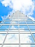 Edificio per uffici blu fotografia stock