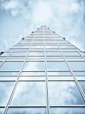 Edificio per uffici blu immagini stock libere da diritti