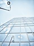 Edificio per uffici blu immagine stock libera da diritti