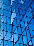 Edificio per uffici blu fotografie stock