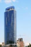 Edificio per uffici blu alto Fotografie Stock