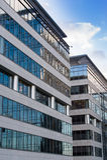 Edificio per uffici corporativo di alta tecnologia Immagine Stock Libera da Diritti