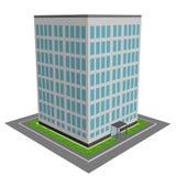 edificio per uffici 3d illustrazione vettoriale