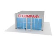 Edificio per uffici dell'azienda delle tecnologie dell'informazione sul bianco Fotografia Stock