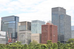 Edificio per uffici di Tokyo immagini stock libere da diritti