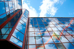 Edificio per uffici, diagrammi di sviluppo, collage Immagine Stock Libera da Diritti
