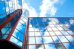Edificio per uffici, diagrammi di sviluppo, collage Fotografie Stock Libere da Diritti