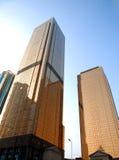 Edificio per uffici dorato Fotografie Stock
