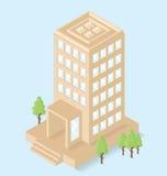Edificio per uffici isometrico piano di vettore 3d Immagine Stock