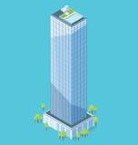 Edificio per uffici isometrico piano di vettore 3d Fotografie Stock