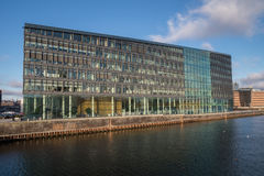 Edificio per uffici moderno, Copenhaghen, Danimarca Fotografie Stock