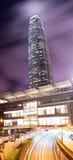 Edificio per uffici moderno in Hong Kong alla notte Fotografie Stock