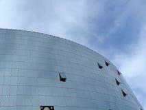 Edificio per uffici riflettente di vetro, costruzione Fotografie Stock