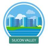 Edificio per uffici in Silicon Valley Fotografia Stock