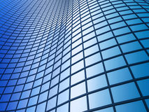 Edificio per uffici su una priorità bassa del cielo blu Fotografie Stock Libere da Diritti