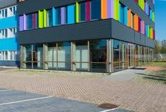 Edificio per uffici variopinto Fotografie Stock Libere da Diritti