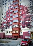 Edificio pintado en Berlín, Alemania Imagen de archivo