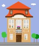 Edificio plano Casa aislada ilustración del vector