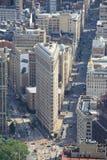 Edificio plano del hierro en Manhattan, Nueva York los E.E.U.U. imagen de archivo libre de regalías