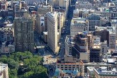 Edificio plano del hierro, Manhattan, Nueva York los E.E.U.U. Foto de archivo