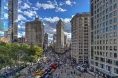 Edificio plano del hierro - New York City fotos de archivo