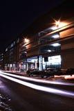 Edificio por noche Imágenes de archivo libres de regalías