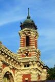Edificio principal de la isla de Ellis Imagenes de archivo