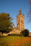 Edificio principal de la universidad de Glasgow foto de archivo libre de regalías