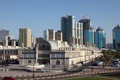 Edificio principal de Souq en la ciudad de Sharja Foto de archivo