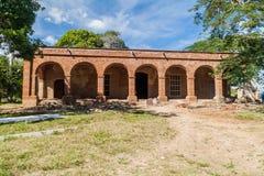 Edificio principal del molino de azúcar San Isidro de los Destiladeros en el valle de Valle de los Ingenios cerca de Trinidad, Cu fotos de archivo libres de regalías